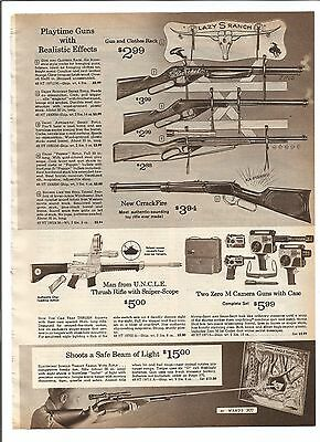 1966 Wards Christmas catalog page Man From UNCLE Thrush Rifle Johnny Eagle