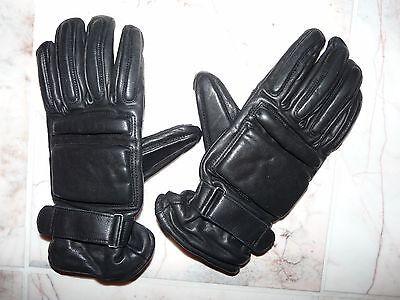 Ex Police Slash Proof Leather Gloves Size: Medium  Public Order Security Doorman