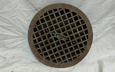 Antique cast iron heat grate air vent floor register