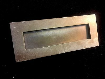Solid Brass Antique English Letterbox . Architectural Salvage Knocker Handle