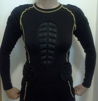 Sports Body Armour Impact Top for Rugby by SPS - size Junior & small