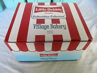"1997 Little Debbie Snacks ""Village Bakery"" Ceramic Store Figure In Original Box"