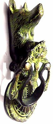 Wolf Design Antique Vintage fINISH Handmade Solid Brass Door Knocker Home Decor