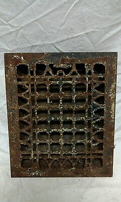 Antique ornate cast iron air vent wall art floor grate heat register old gothic