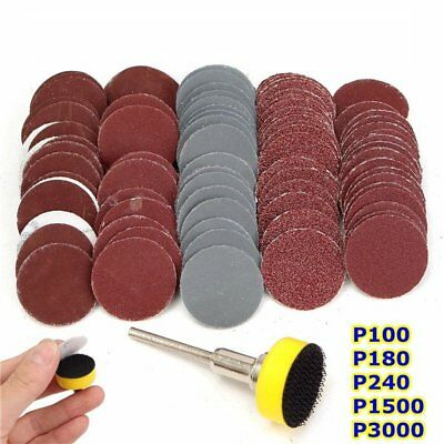 100pcs 25mm 100-3000 Grit Sandpapers with Hook and Loop Backer Pad