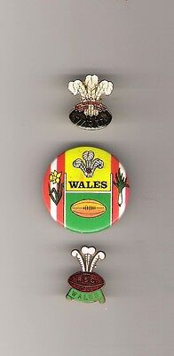 3 X  Welsh Rugby Badges