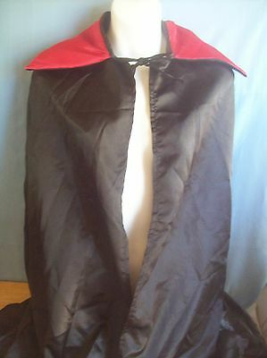 Adult Full Length Witch/Vampire Cape With Red Collar