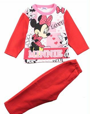 Baby Girls Minnie Toddler Fleece Outfits Sport Tracksuit Set 2-5 Years