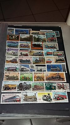 40 timbres Trains (lot1)