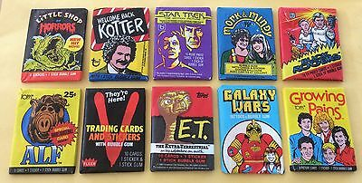 1970s & 1980s Lot Of 10 Different Wax Packs