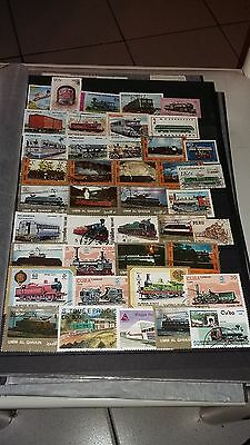40 timbres Trains (lot2)