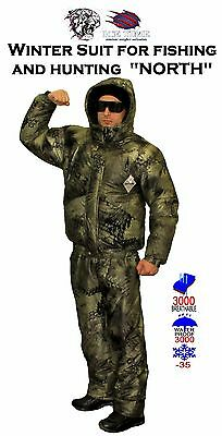 """Winter Suit for fishing and hunting """"NORTH""""/ use temperature up to – 35 degrees"""