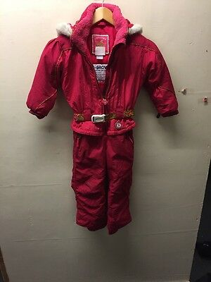 Size 4 All In One Ski/snow/winter Suit In Pink By Obermeyer