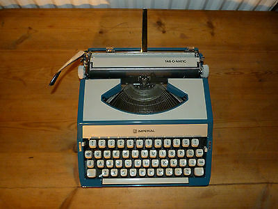 Vintage Imperial Typewriter Tab-O-Matic Portable 1960's made in Japan