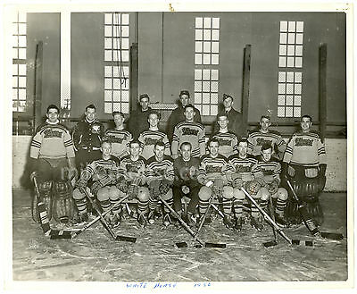 1949-50 Whitehorse Flyers RCAF Hockey Team Orig. Photo Royal Canadian Air Force