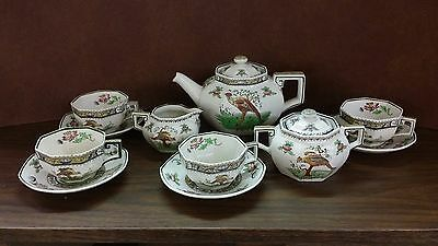 Royal Doulton Pekin SET Tea Pot Creamer Sugar 4 cups and saucers Complete Full