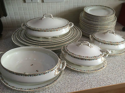 A John Maddocks & Sons Part Dinner Service - Dated 1890 - 1900 Plates & Tureens