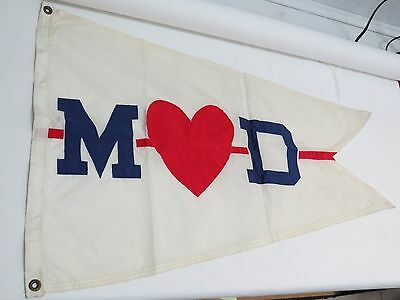Mary Hartline Donahue Yacht Flag Super Circus Star/Woolworth Boat Club Pennant