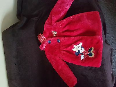 Red Mickey Mouse Winter Coat aged  2-3 Years