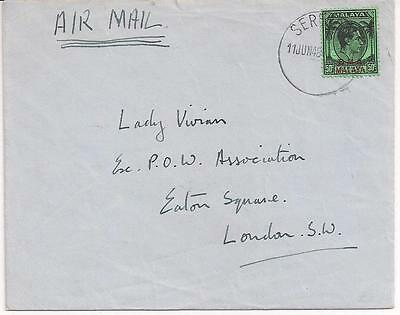 BMA 50c single on cover to London