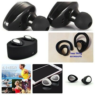 Coppia Auricolari Bluetooth 4.1 Stereo Sport Headset Cuffie Wireless  iPhone