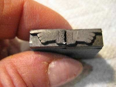 Letterpress Printers Block,Lot @2, Left and Right Pointing hand/metal