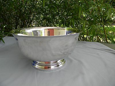 """Webster Wilcox International SilverPlated Punch Bowl Foot 12""""Wx 6 1/4""""H  #336/12"""