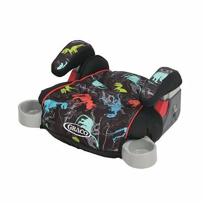 Dinosaur Booster Car Seat Backless Hideaway Cup Holders Padded Seat Armrests New