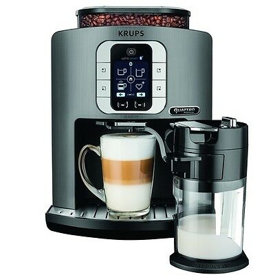 Krups EA 860E One-Touch-Cappuccino-System Latte Smart Silver - Kaffeevollautomat