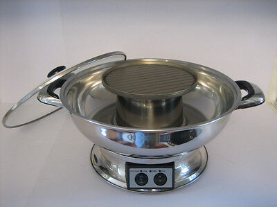 Shabu Shabu Electric Hot Pot With BBQ Grill (CH--8802)