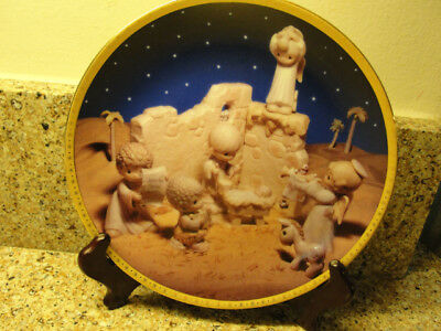 """For God """"i'll Play My Drum For Him"""" Precious Moments Plate"""