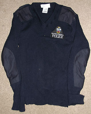 A Genuine Old Style Police Woolly Jumper - Badged