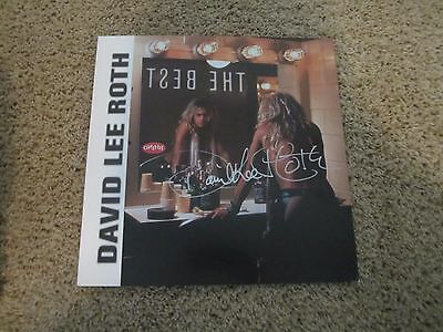 David Lee Roth Autograohed Flat