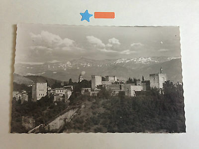 Spain Granada The Alhambra & Sierra Nevada Real Photograph Postcard