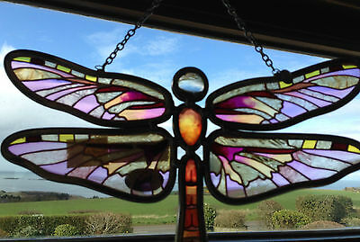 AMIA DENVER hand painted SUN CATCHER dragonfly BRAND NEW beautiful xmas gift