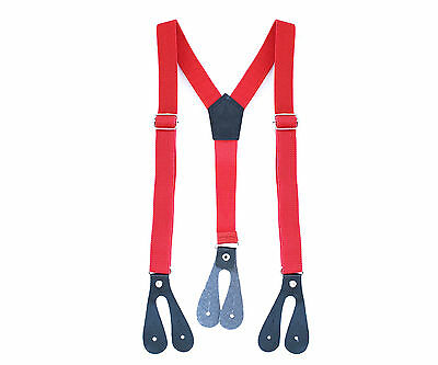20mm Boys Braces Red Button Hole Elastic Wide Suspenders Adjustable Trousers