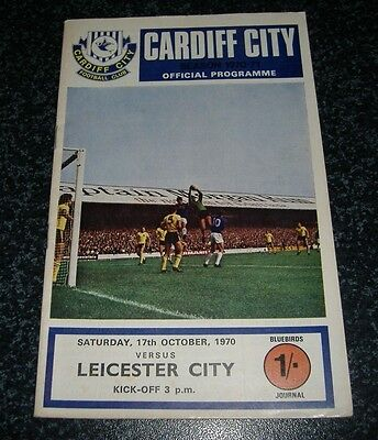Cardiff v Leicester 1970/71