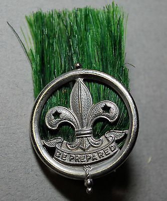 Vintage 1920 1930 Rover Boy Scout Scoutmaster Cap Badge Hat Plume With  Hackle