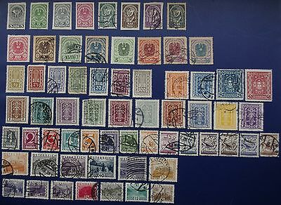 AUSTRIA - 1918-1932 Collection of Used & Mint Hinged Stamps