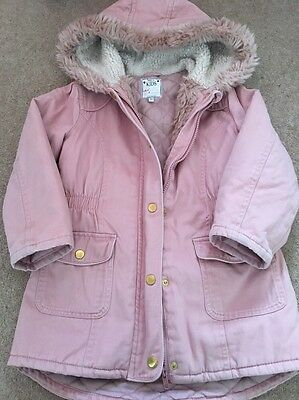 Girls Pink Marks & Spencer Winter Coat Age 5-6 Years