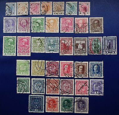 AUSTRIA - 1890-1918 Collection of Used & Mint Hinged Stamps