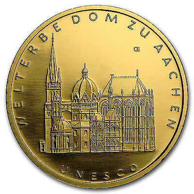 2012 Germany 1/2 oz Gold 100 Euro Aachen Cathedral BU - SKU #96617