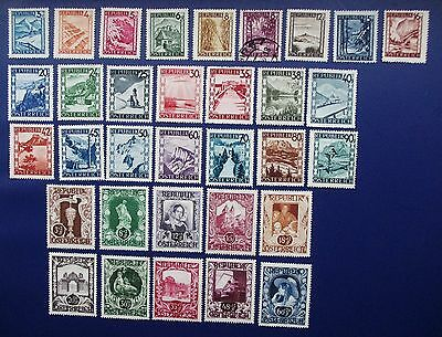 AUSTRIA - 1945 -1952 Collection of Mint Hinged & Used (1) Stamps
