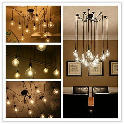 Industrial Steampunk Loft Chandelier Ceiling Pendant Light Lamp Vintage Style UK
