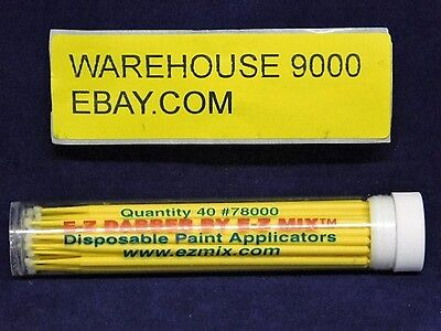 40 Touch Up Disposable Paint Applicaters E-Z Dabber #78000 Auto Hobby Cosmetics