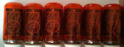 6 Nixie NOS tube SIEMENS ZM1040 NOS perfect and strong red coating fully tested