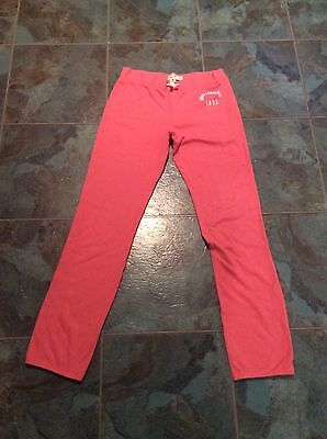 Girls Abercrombie And Fitch Pink Joggers - Size XL