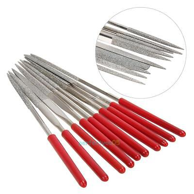 10pcs Guitar Fret Crowning Luthiers Tool File Stainless Steel Dual Cutting Edge