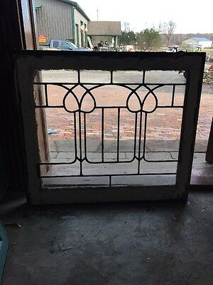 Sg 931 Antique Leaded Tulip Design Window