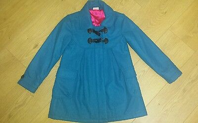 butterfly by matthew williamson girls blue duffle coat age 8 years